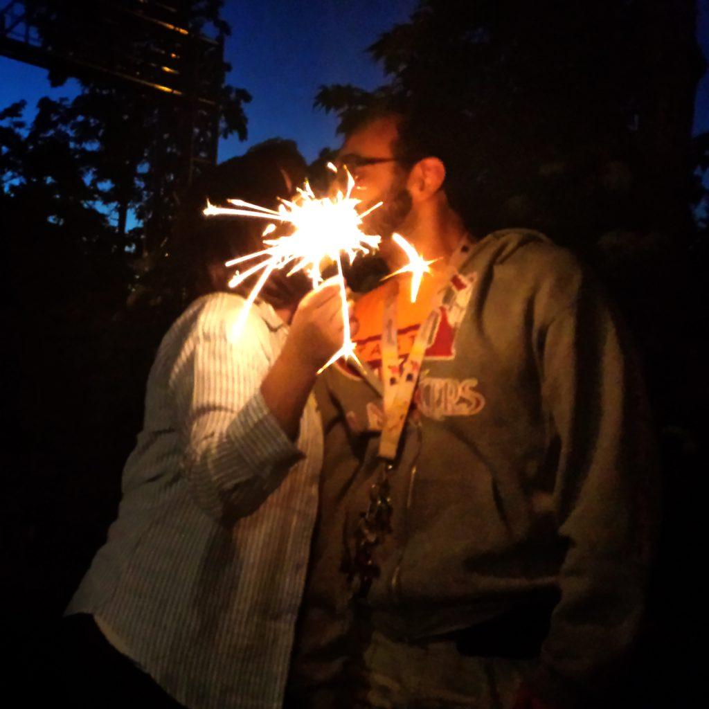 Sparks flying!